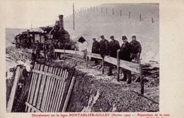 CPA De PONTARLIER (Doubs) - Eboulement Sur La Ligne Pontarlier-Gilley. Février 1907. Edition Borel. Non Circulée TB ét - Pontarlier