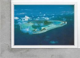 CARTOLINA NV DE AGOSTINI - POLINESIA FRANCESE - Maupiti - Isola Vista Dall'Aereo - Vedute Dal Mondo - 10 X 15 - Polinesia Francese