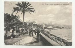 S.REMO - CORSO IMPERATRICE - LA PASSEGGIATA  1910    VIAGGIATA FP - Imperia