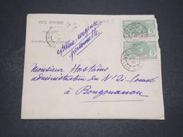 CÔTE D 'IVOIRE - Enveloppe Du Cabinet Du Gouverneur De Bingerville Pour Bourgouanou En 1909 - L 16562 - Ivory Coast (1892-1944)