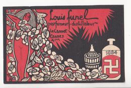Au Plus Rapide Carte Parfumée ? Carte De Visite ? Parfumerie Funel Le Cannet Cannes 1884 - Parfumkaarten
