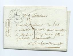 MORBIHAN - Belle Isle En Mer - (Belle Ile En Mer) 1837 - Marcophilie (Lettres)