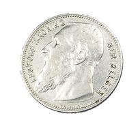 1 Franc - Belgique - Léopold II  - 1909 - Argent - TTB - - 1865-1909: Leopold II
