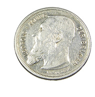 2 Frank - Belgique - Léopold II  - 1909 - Argent - TB+ - - 1865-1909: Leopold II