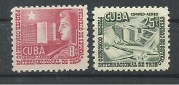 CUBA YVERT AEREO  88/89   MH  * - Poste Aérienne