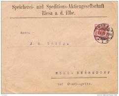 28549. Carta RIESA A D. Elbe (Alemania Reich) 1900. - Cartas
