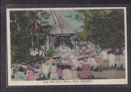 CPA SEYCHELLES - LA MISERE - MAHE - Holy Mass At La Misère , Mahé - Très Belle ANIMATION - Personnages En Prière - Seychellen