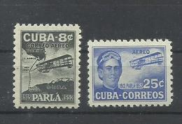 CUBA YVERT AEREO   60/61    MH  * - Poste Aérienne