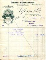 PARIS.ENCRES D'IMPRIMERIE.COULEURS & VERNIS.PATES A ROULEAUX.LEFRANC & Cie.12 RUE DE SEINE. - Imprimerie & Papeterie