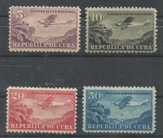 CUBA YVERT AEREO   12/15    MH  * - Poste Aérienne
