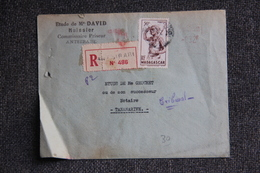 Lettre Recommandée De MADAGASCAR (ANTSIRABE) Vers TANANARIVE. - Storia Postale