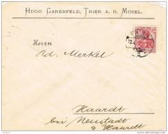 28553. Carta TRIER A.d Mosel (Alemania Reich) 1902. Walkiria - Cartas