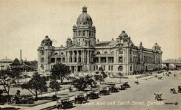 TOWN HALL AND SMITH STREET, DURBAN   Sudafrica, SOUTH AFRICA , Afrique Du Sud - Sudáfrica