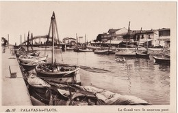 34 PALAVAS LES FLOTS -- Le Canal Vers Le Nouveau Pont N° 17 - Palavas Les Flots
