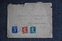 Lettre De BERCK PLAGE Vers CHATEAUROUX - Lettres & Documents