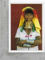 CARTOLINA NV DE AGOSTINI - BIRMANIA - Loikaw - Donne Giraffa - Vedute Dal Mondo - 10 X 15 - Myanmar (Birma)