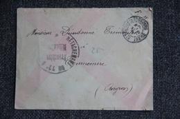 Lettre En Franchise Militaire Vers TOURNEMIRE - Guerre De 1914-18