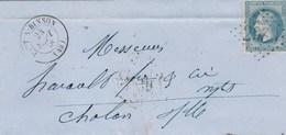 Yvert 29 Sur Lettre PORT A BINSON 24/9/1868 GC 2983 Pour Chalons Sur Marne - Pli - Postmark Collection (Covers)