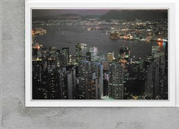 CARTOLINA NV DE AGOSTINI - HONG KONG - La Baia - Vedute Dal Mondo - 10 X 15 - Cina (Hong Kong)