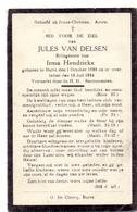 Devotie - Devotion - Doodsprentje Image Mortuaire - Jules Van Delsen - Burst 1888 - 1934 - Décès
