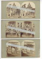 1859 ROME 3 STEREO ITALIE ITALIA GAUDIN FRERES PHOTO STEREO /FREE SHIPPING REGISTERED - Stereoscopic