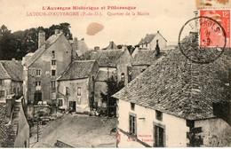 63.CPA. LATOUR D AUVERGNE.  Quartier De La Mairie.  1952. - Otros Municipios