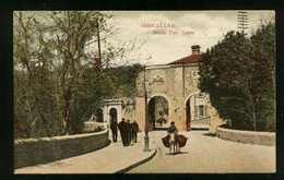 GIBRALTAR - South Port Gates With Men & Donkey - Unused - Gibraltar