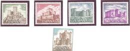Espagne: Yvert N° 1747/1751**; MNH; Chateaux - 1931-Aujourd'hui: II. République - ....Juan Carlos I