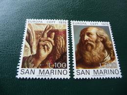TIMBRES   SAINT  MARIN     EUROPA   1975   N   891 / 892   COTE  1,25  EUROS   NEUFS  LUXE** - Europa-CEPT