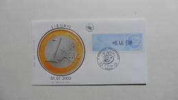 FDC :France : L'Euro :3 ème Biennale Philatélique 01/01/2002 Paris - 2000-2009