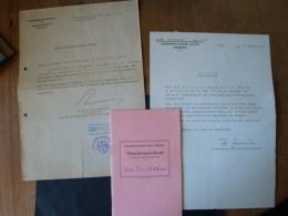 """Norddeutscher Lloyd Bremen, Dienstzeugnisbuch, + Hafenärztliche Bescheinigung, M.S. """" Hessenstein """" 1961 - Schiffe"""