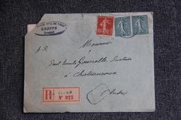 Lettre Recommandée Du VIGAN Vers CHATEAUROUX - Lettres & Documents