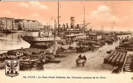 CORSE - Dans Le Port De Nice, Belle Activité Sur Le Quai Autour D'un Des Courriers Postaux De La Corse - - Bastia