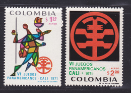 COLOMBIE AERIENS N°  518 & 519 ** MNH Neufs Sans Charnière, TB (D7125) Jeux Panaméricains - Colombie
