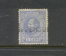Nvph 19 Met Langstempel Loppersum - 1852-1890 (Guillaume III)