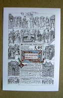 VATICANO 2018.1150° ANNIVERSARIO DEL RICONOSCIMENTO DELLA LINGUA LITURGICA SLAVA, FULL SHEET   MNH** - Vatican