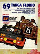 X 69 TARGA FLORIO 1985 RALLYE INT.LE  TABELLA TEMPI E DISTANZE  IP 8  PAG. - Car Racing - F1