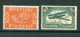 ALLEMAGNE Empire- P.A Y&T N°1 Et 2- Neufs Avec Charnière * (papier Resté Collé Au Dos Du N°2) - Poste Aérienne