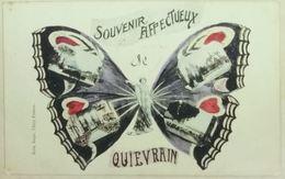 Quiévrain Carte Fantaisie Souvenir Affectueux (Papillon) - Quiévrain