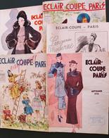 MODE. Eclair-coupe, 5 Livrets De Modèles De Vêtements, + 1 Dossier Haute Couture De 11 Fiches. Années 1936-39 - Fashion