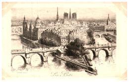 """[75] Paris >  Notre Dame De Paris """"La Cité""""    (Format 9 X 14) - Notre Dame De Paris"""
