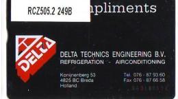 Telefoonkaart  LANDIS&GYR NEDERLAND * RCZ.505.02   249B * Delta Technics Engineering  * TK * ONGEBRUIKT * MINT - Nederland