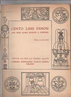 """Catalogue De Vente Aux Enchères 1935 """" Cento Libri Famosi ..."""" - Livres, BD, Revues"""