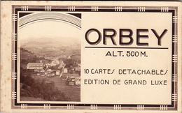 Carnet Complet 10 Cpa Orbey - Edition L Scandella - Orbey
