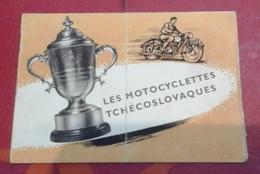 Petits Prospectus Motocyclettes Tchécoslovaques CZ 125 CZ 150 Jawa 250 Jawa 350 - Reclame