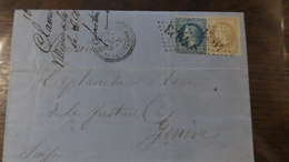 07.05.18-RARE LAC  De Villeneuve-les-Maguelonnes GC 4923 (33) Ind 16?cachet Perlé - Postmark Collection (Covers)