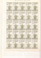 ESPAÑA1930.DESCUBRIMIENTO AMERICA  EDIFIL 532. 2 CENT Verde /oliva,PLIEGO  25 SELLOS NUEVO SIN CHARNELA .ceci4 Nº 14 - 1889-1931 Koninkrijk: Alfonso XIII