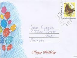 Kenya 2016 Molo Butterfly Domestic Postage Paid Letter Sheet - Kenia (1963-...)