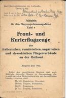 Dépliant Allemand Juin 1942 Silhouette Avions De Guerre Italien, Roumains, Autrichiens,... Front Und Kurierflugzeuge - Aviation