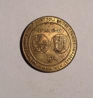 TOKEN JETON GETTONE TRANSIT TRASPORTI PENNSYLVANIA NEW JERSEY 1934BRIDGE - Monetari/ Di Necessità